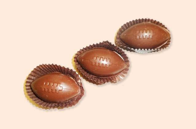 Chocolate Footballs: click to enlarge
