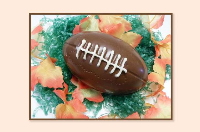 Chocolate Football: click to enlarge