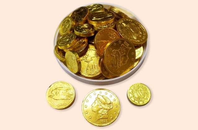 Foil Wrapped Gold Coins: click to enlarge