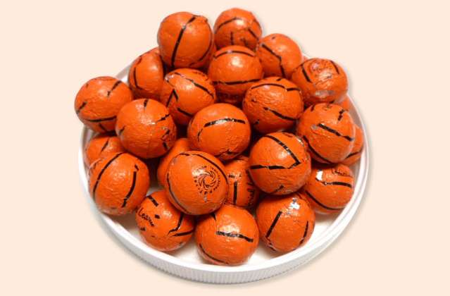 Foil Wrapped Basketballs: click to enlarge