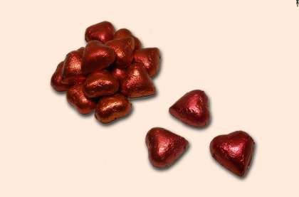 Milk Chocolate Foiled Hearts: click to enlarge